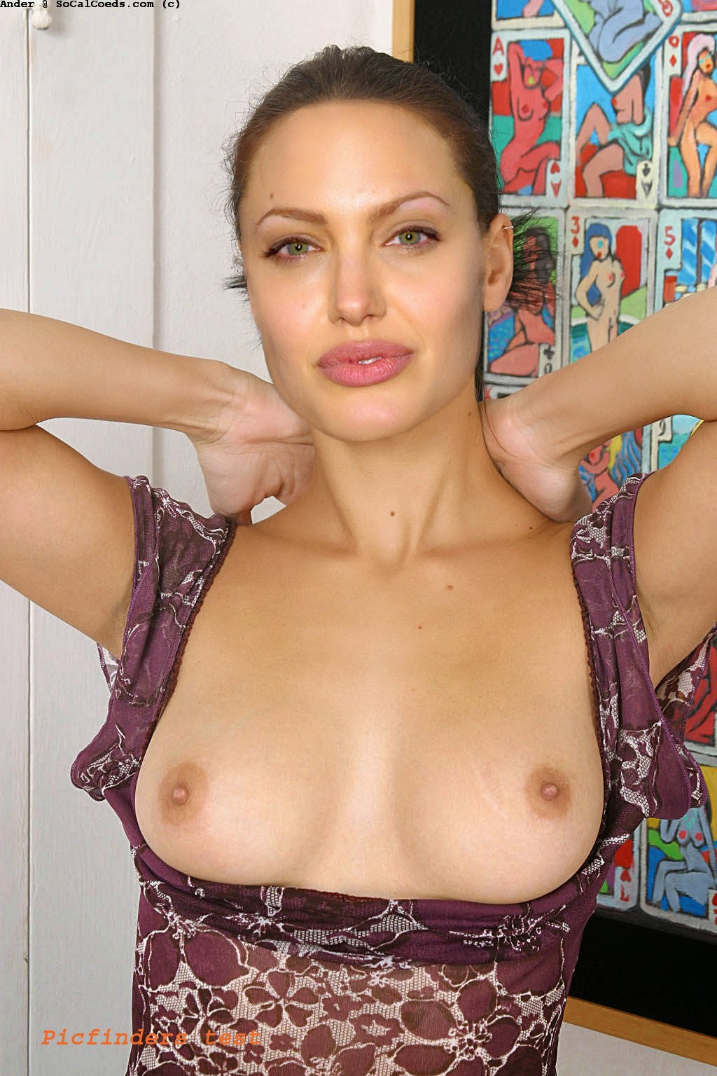 hot celebrities photos and videos: angelina jolie topless and