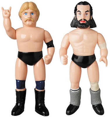 Professional Wrestling Legends Bruiser Brody & Stan Hansen Sofubi Vinyl Figures by Medicom