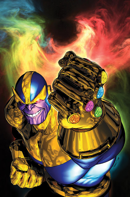 Thanos de Titan y el guante del infinito