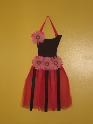 Brown/Pink Daisies Tutu Bow Holder