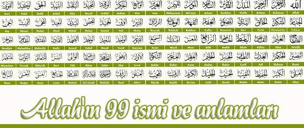 Allahn 99 Smi Ksa Aklama