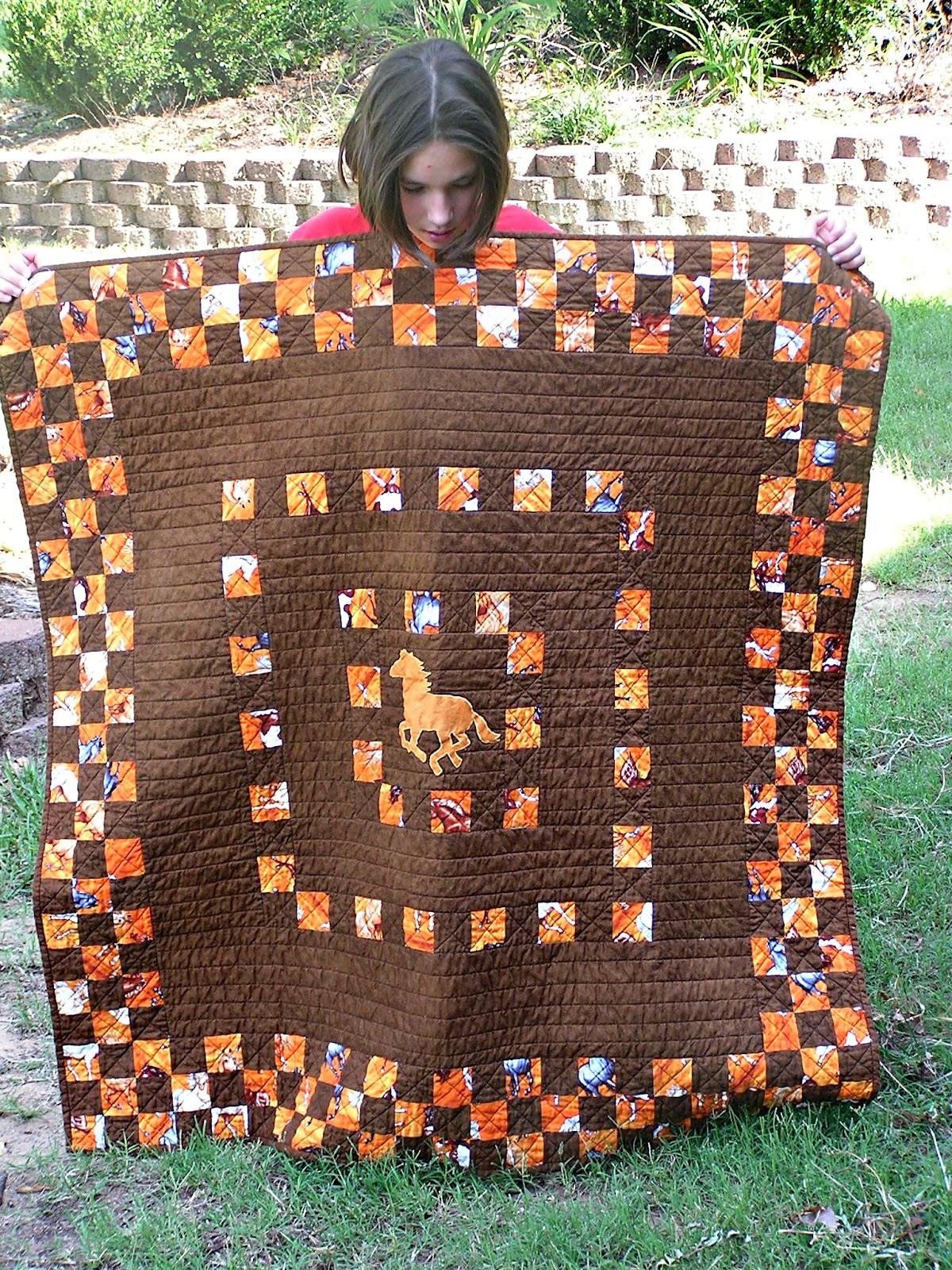 pam made by pin item sew on horse quilted and quilt mcguire
