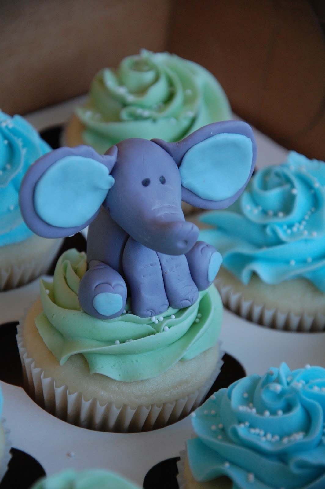 Mom And Baby Elephant Cake Topper