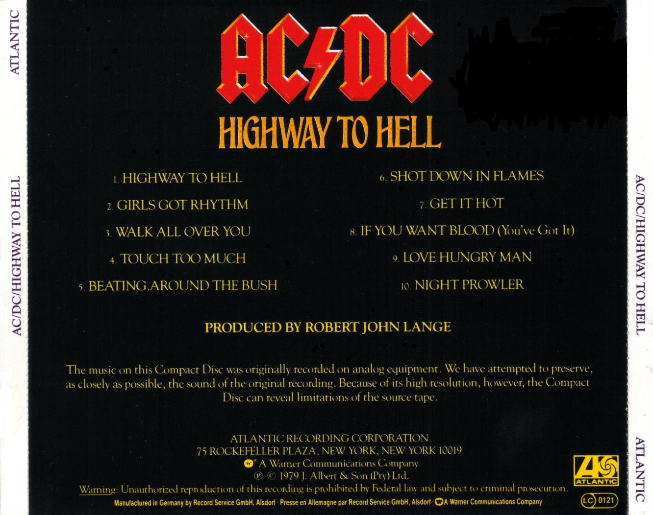 ACDC Highway To Hell Dirty Deeds Done Dirt Cheap