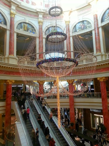 The intu Trafford Centre in Manchester Christmas decorations