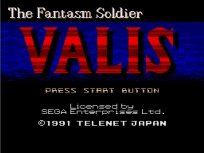 Valis The Fantasm Soldier title screen