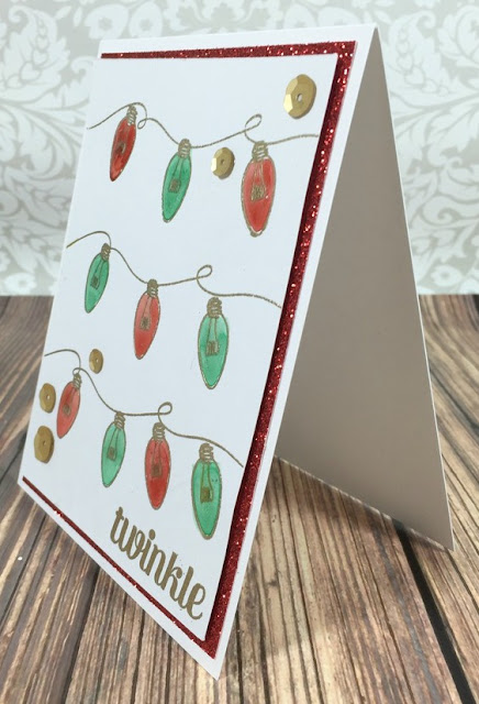 Twinkle Christmas lights card