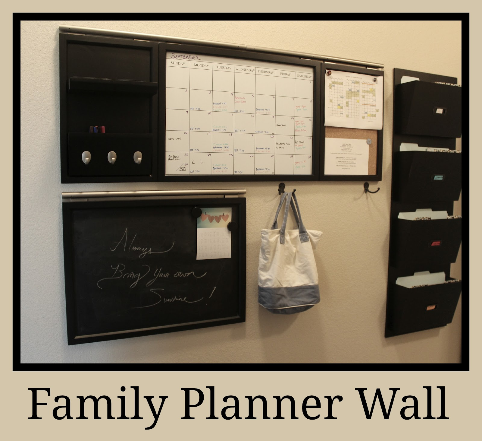 Family Calendar Wall : Moore minutes the school year organized our family