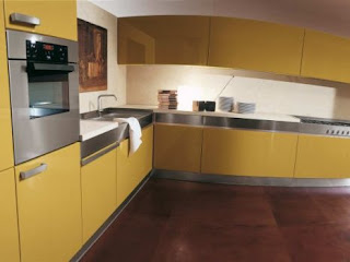 modern yellow kitchen cabinets pictures