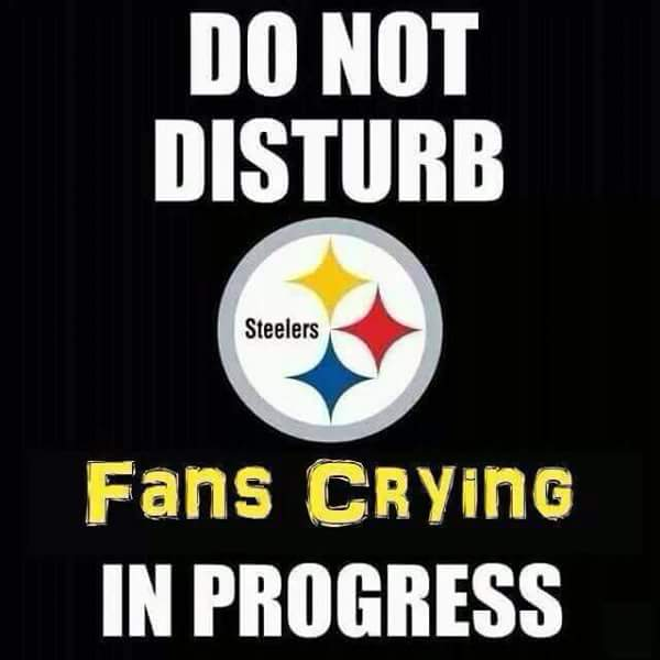 do not disturb, fans crying in progress.- #steelerscrying #steelershaters #donotdisturb #fans #crying