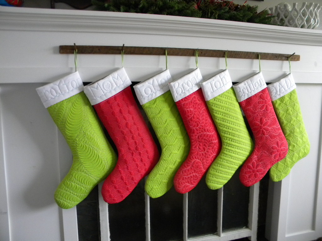 quilted stockings - Quilted Christmas Stockings