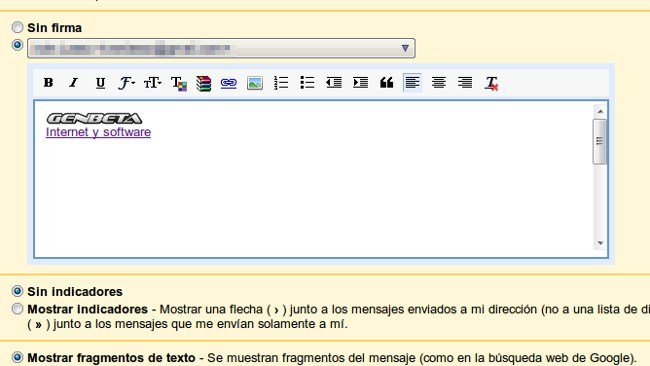 Poner firma en gmail