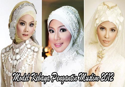 Model Kebaya Pengantin Muslim 2012