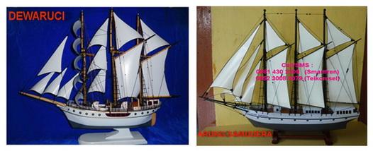 Miniatur kapal KRI Dewaruci, Miniatur kapal Arung Samudera, Miniatur kapal Perang, Miniatur kapal Layar