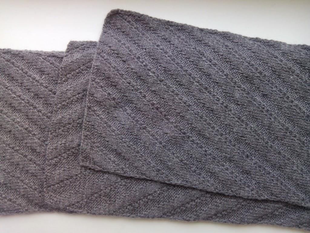 Связать шапку и шарф спицами для мужчины