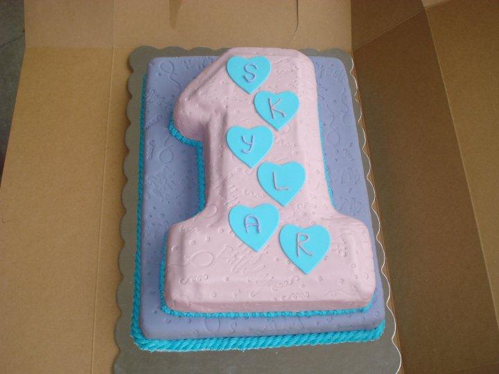 Bake A Licious Baby Girls 1st Birthday Cake And Smash Cake