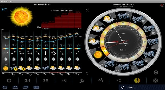 eWeather HD, Radar HD, Alerts apk - Screenshoot
