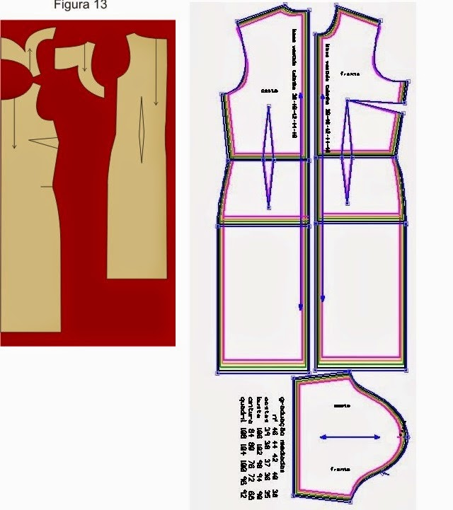 Blog Atelier Fernanda Guimaraes: Molde básico de vestido tubinho