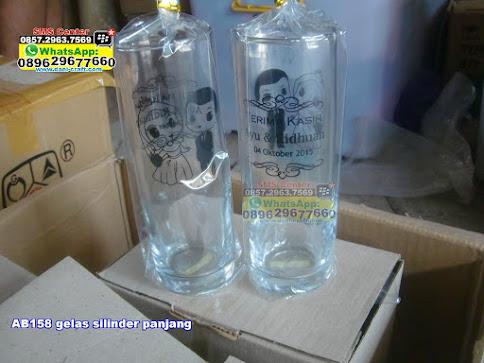 gelas silinder panjang unik