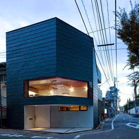 modern japanese urban house by suppose design
