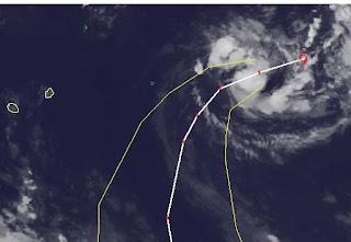 Schwacher Tropischer Zyklon 13S wahrscheinlich keine Gefahr für Mauritius, Hilwa, aktuell, Satellitenbild Satellitenbilder, Vorhersage Forecast Prognose, Mauritius, Februar, 2012, Indischer Ozean Indik, Zyklonsaison Südwest-Indik,