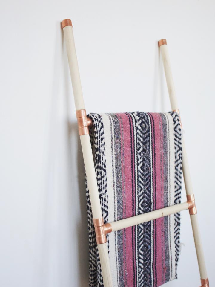 Foxtail Moss Diy Wood Copper Blanket Ladder