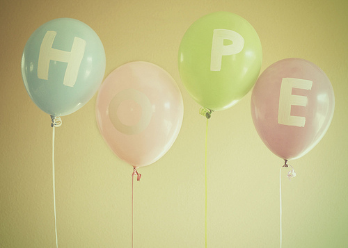 Make sure the balloons are out