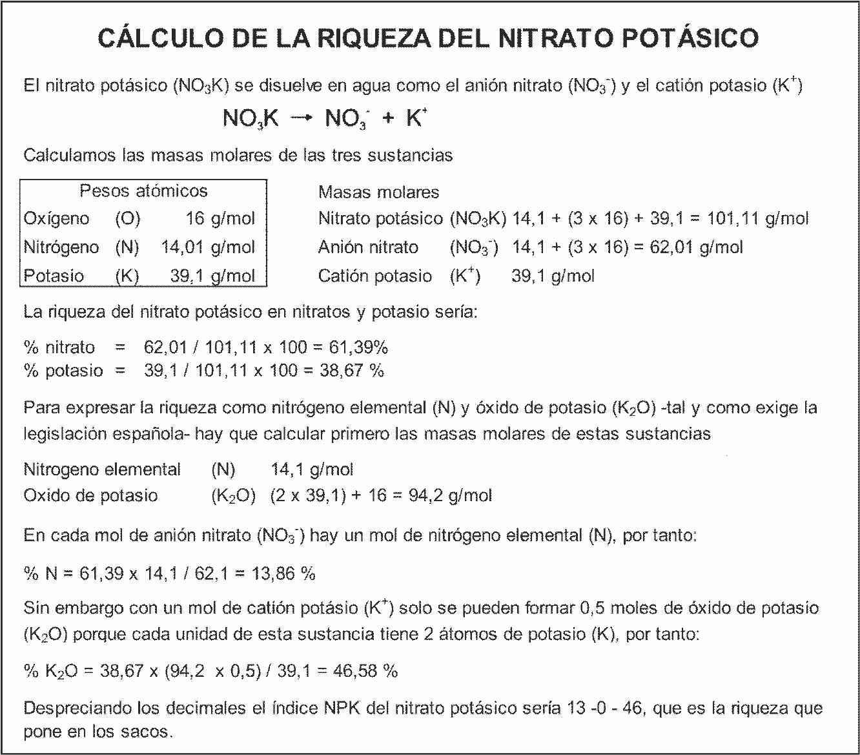 Homo agricola: La riqueza del nitrato potásico (y un poquito de ...