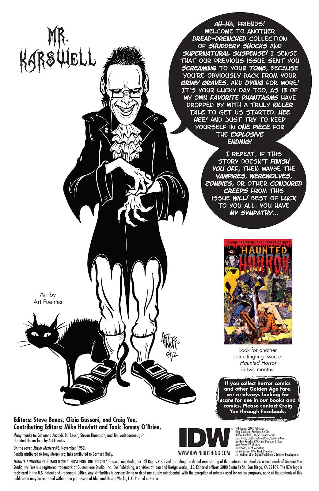 Haunted Horror Issue #10 #10 - English 2