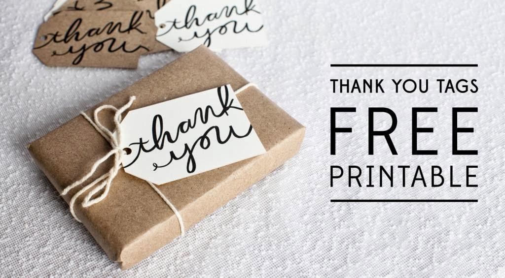 Modest image with regard to free printable thank you tags for favors