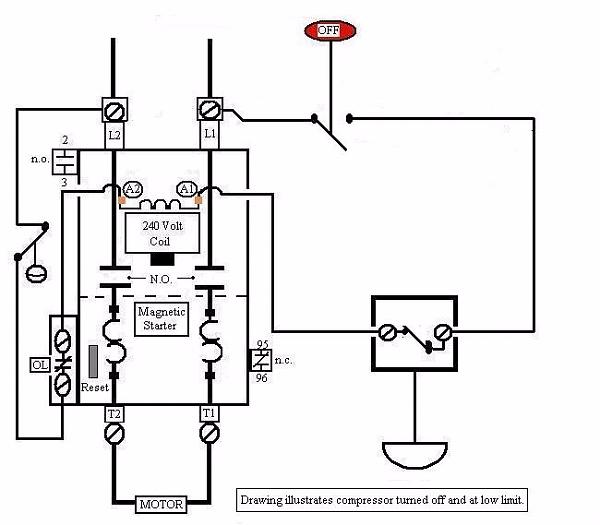air compressor motor starter wiring diagram