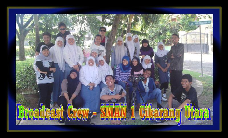 Foto Kru Broadcast (Broadcast Crew) SMAN 1 Cikarang Utara