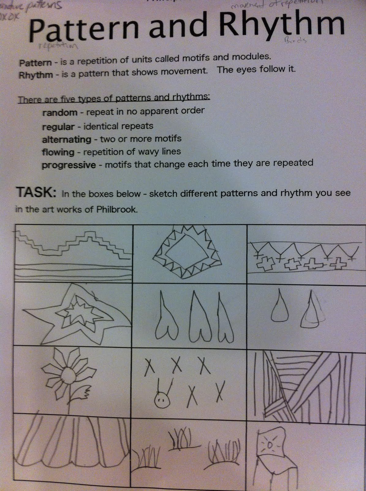 Principles Of Art Rhythm : Patterns and rhythm principles of art fairy dust teaching