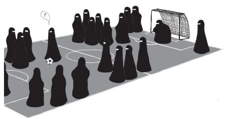 Funny Niqab and Burka Pictures - Basketball