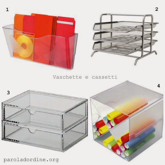paroladordine-da avere-studio-vaschette e cassetti