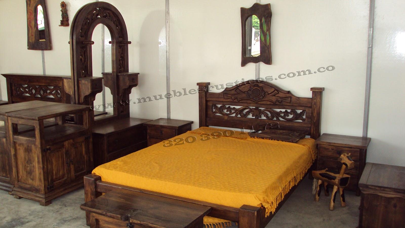 Cama madera rustica todo maderas rustico t rusticas for Muebles rusticos en madera