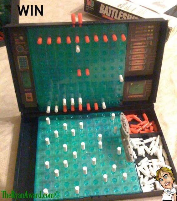 WIN! Best Game of Battleship ever!