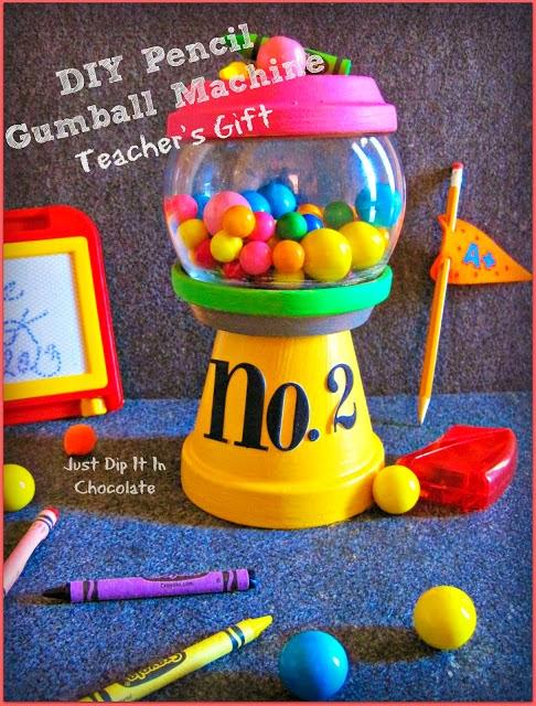teacher gift diy gumball machine
