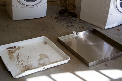 how to install washing machine pan