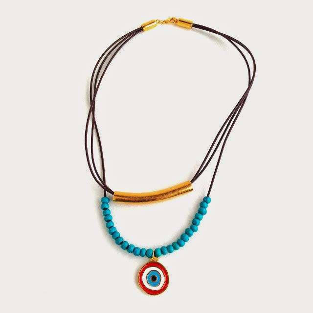 Erin Siegel Jewelry Layered Evil Eye Necklace DIY TUTORIAL