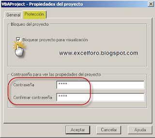 Proteger y desproteger proyectos VBA en Excel.