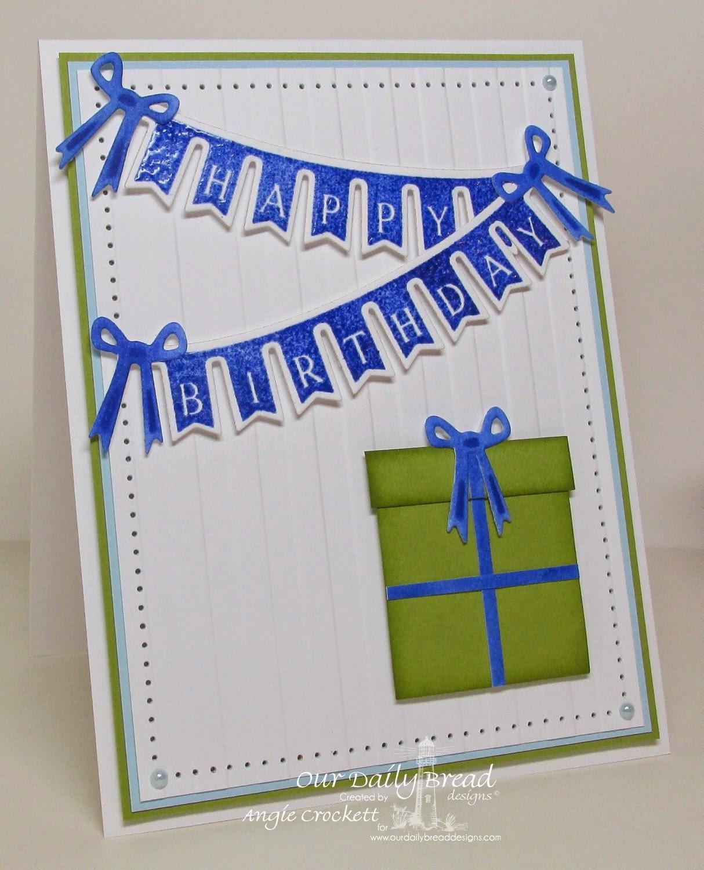 ODBD Pennant Swag 2, ODBD Custom Pennant Swag Die, Card Designer Angie Crockett