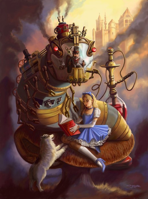 Steampunk Alice por rebelakemi