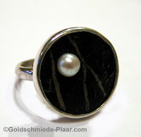 Ring Silber Kokosnuss Perle