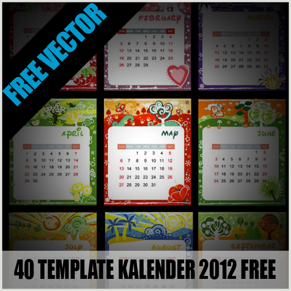 Penanggalan Malaysia: Download Template Kalender 2012 Indonesia