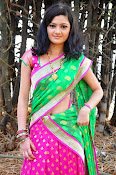 Pujitha sizzling in half saree-thumbnail-15