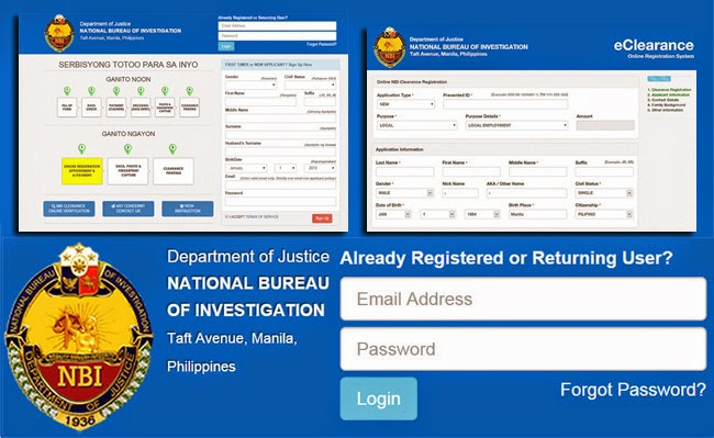 Online Application System of National Bureau of Investagation is Open for the NBI Clearance