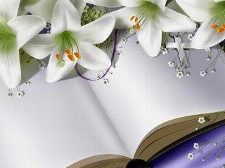 Knjiga, cvijeće i križ za Uskrs download besplatne pozadine slike za mobitele