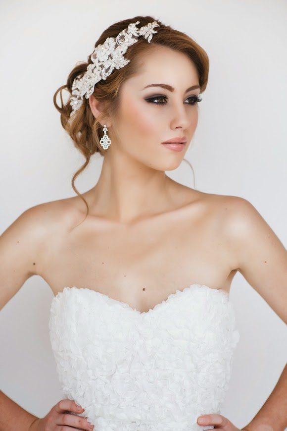 Faith Bridal Headpiece  - www.perlejewellerymakeup.com.au