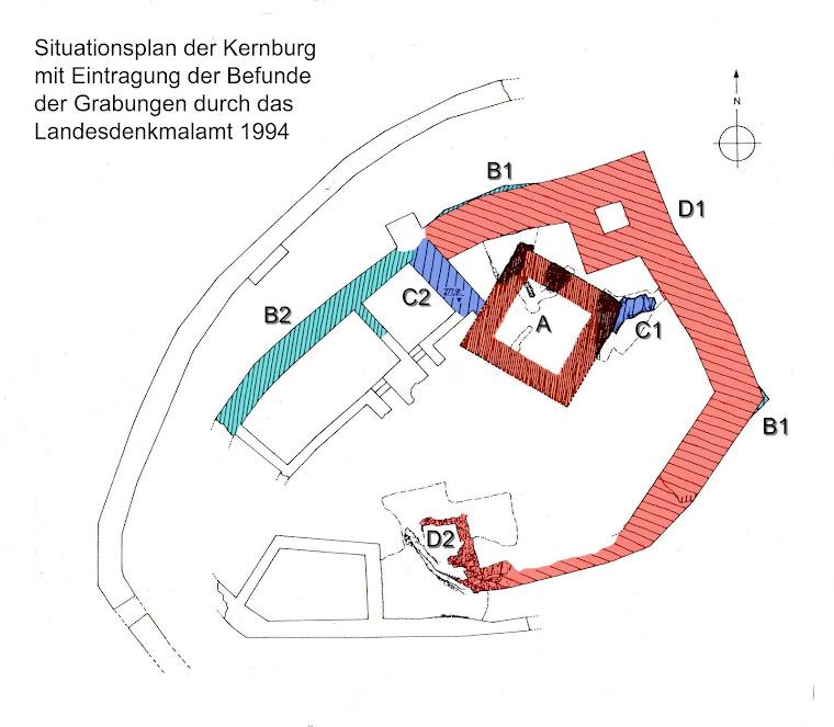 Bauphasenplan der Kernburg